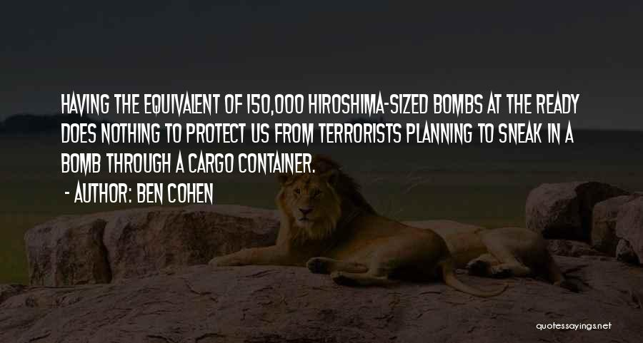 Cargo Container Quotes By Ben Cohen