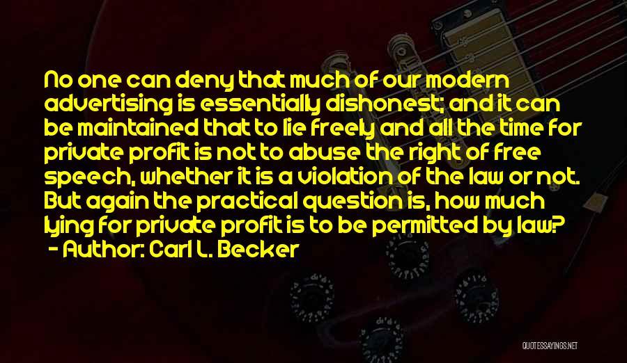Carl L. Becker Quotes 1193113