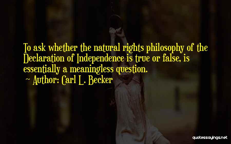 Carl L. Becker Quotes 1197767