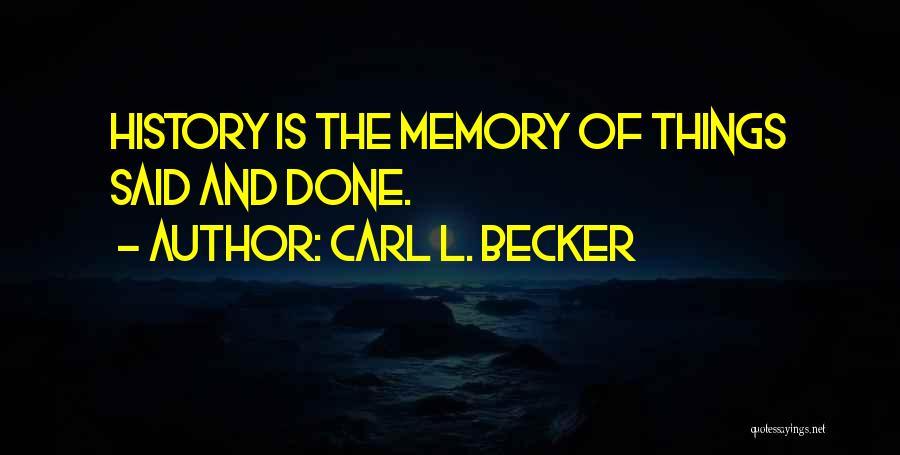 Carl L. Becker Quotes 1437315
