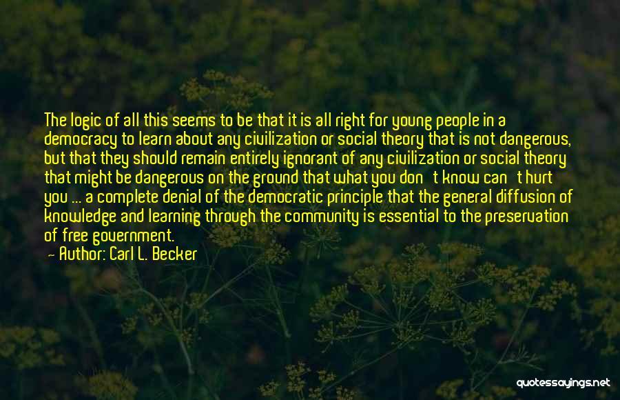 Carl L. Becker Quotes 300789