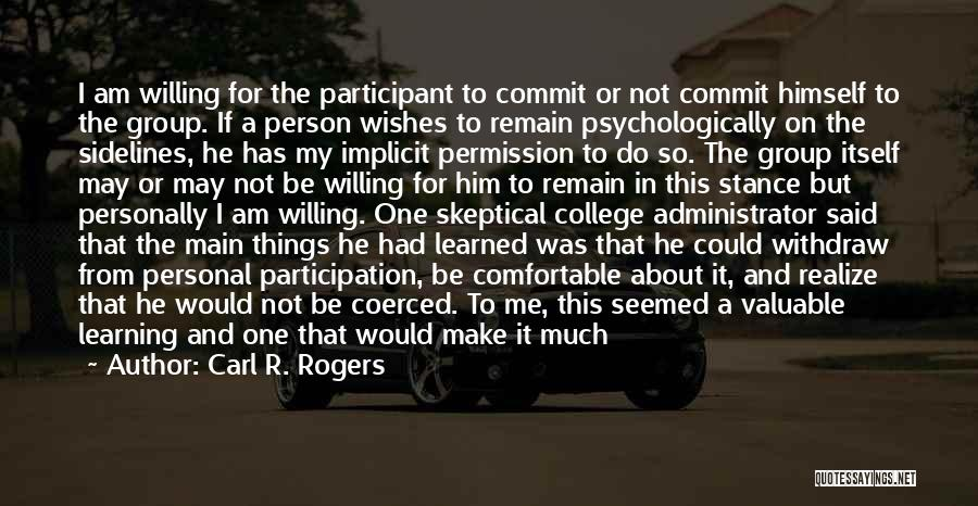 Carl R. Rogers Quotes 166480