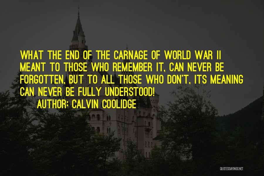 Carnage Quotes By Calvin Coolidge