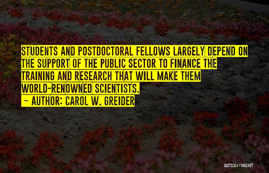 Carol W. Greider Quotes 1077615