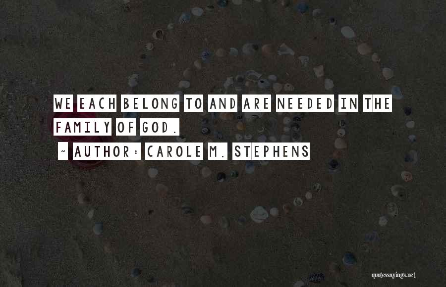 Carole M. Stephens Quotes 1792547