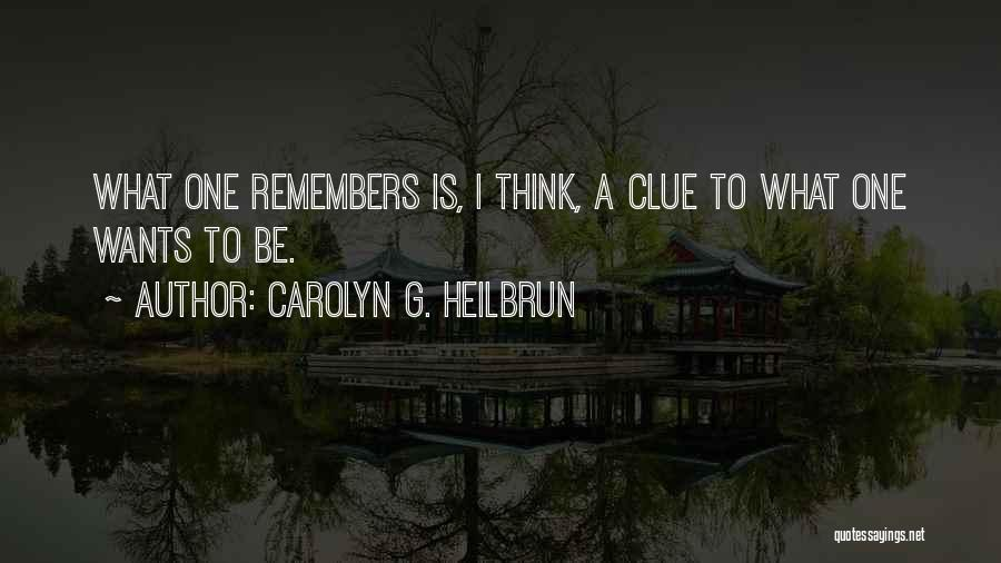 Carolyn G. Heilbrun Quotes 635961
