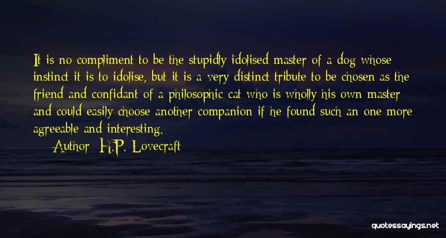 Cat Companion Quotes By H.P. Lovecraft