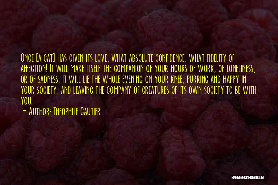 Cat Companion Quotes By Theophile Gautier