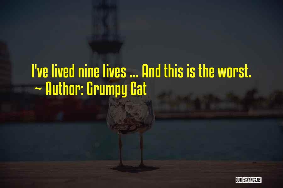 Cat Nine Lives Quotes By Grumpy Cat