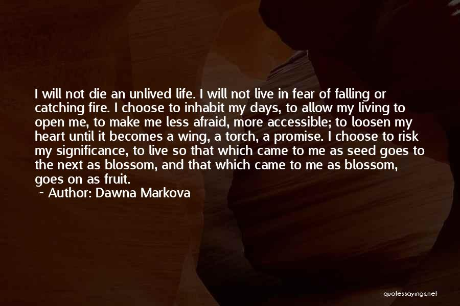 Catching Someone When They Fall Quotes By Dawna Markova