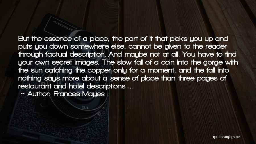 Catching Someone When They Fall Quotes By Frances Mayes