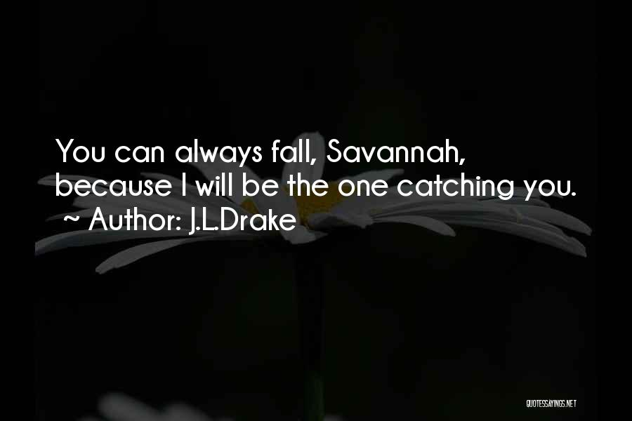Catching Someone When They Fall Quotes By J.L.Drake