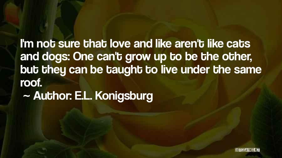 Cats And Dogs Quotes By E.L. Konigsburg