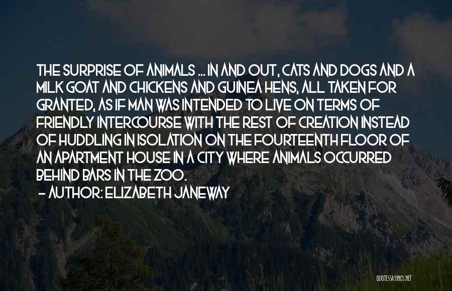 Cats And Dogs Quotes By Elizabeth Janeway