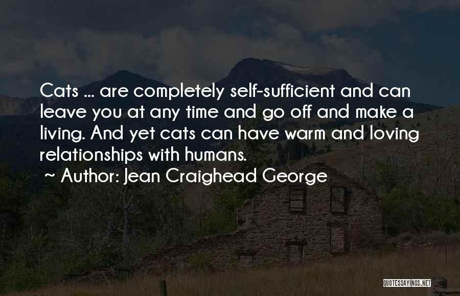 Cats And Humans Quotes By Jean Craighead George