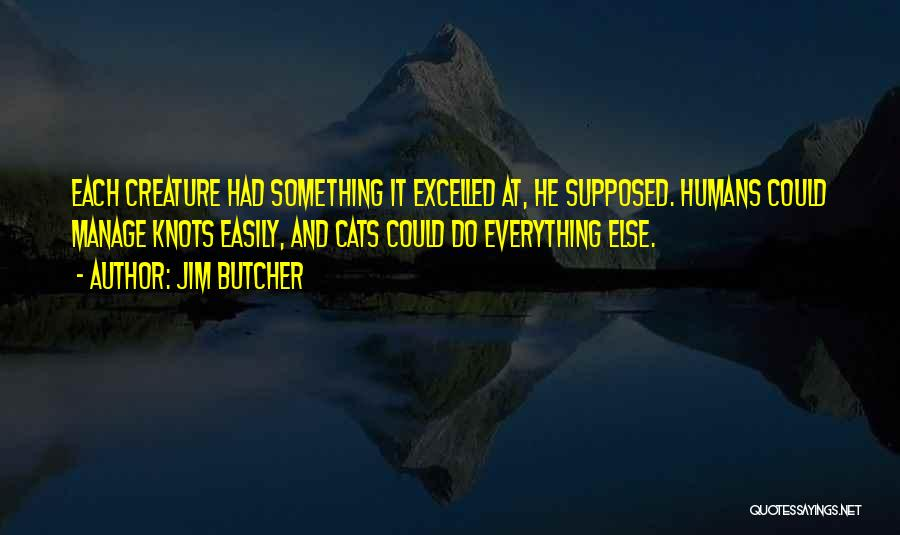 Cats And Humans Quotes By Jim Butcher
