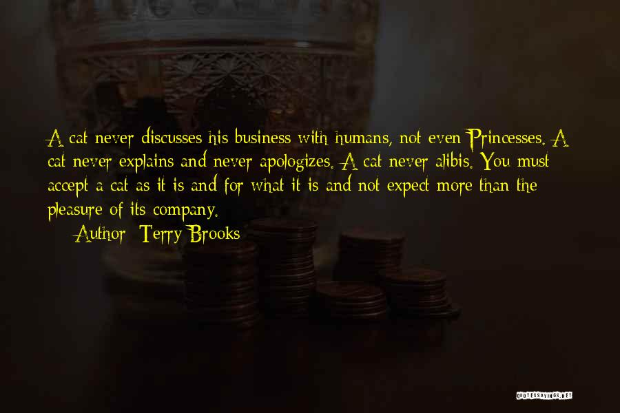 Cats And Humans Quotes By Terry Brooks