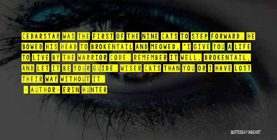 Cats And Life Quotes By Erin Hunter