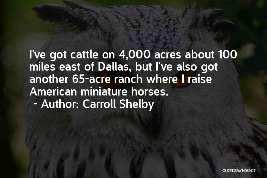 Cattle Ranch Quotes By Carroll Shelby