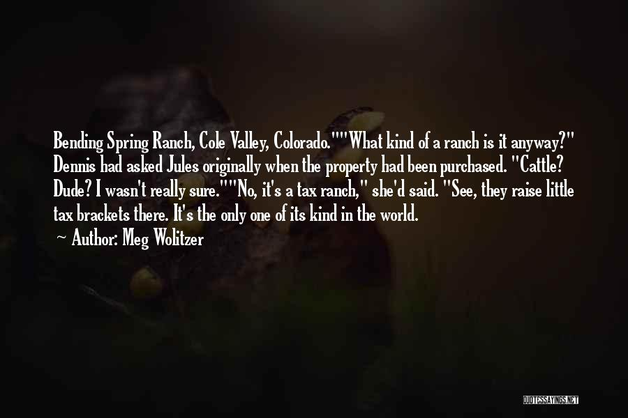 Cattle Ranch Quotes By Meg Wolitzer