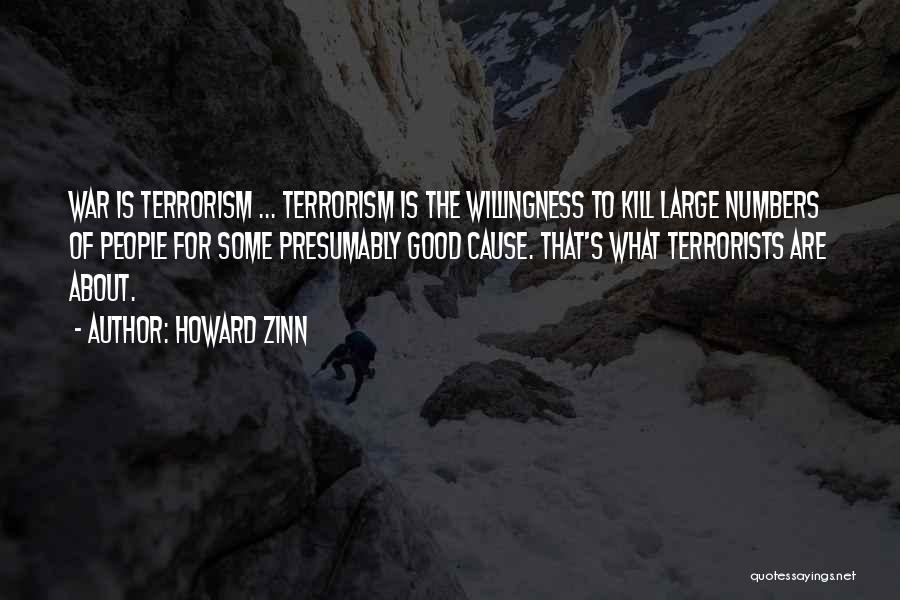 Cause Of Terrorism Quotes By Howard Zinn