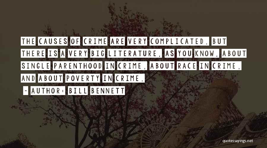 Causes Of Crime Quotes By Bill Bennett