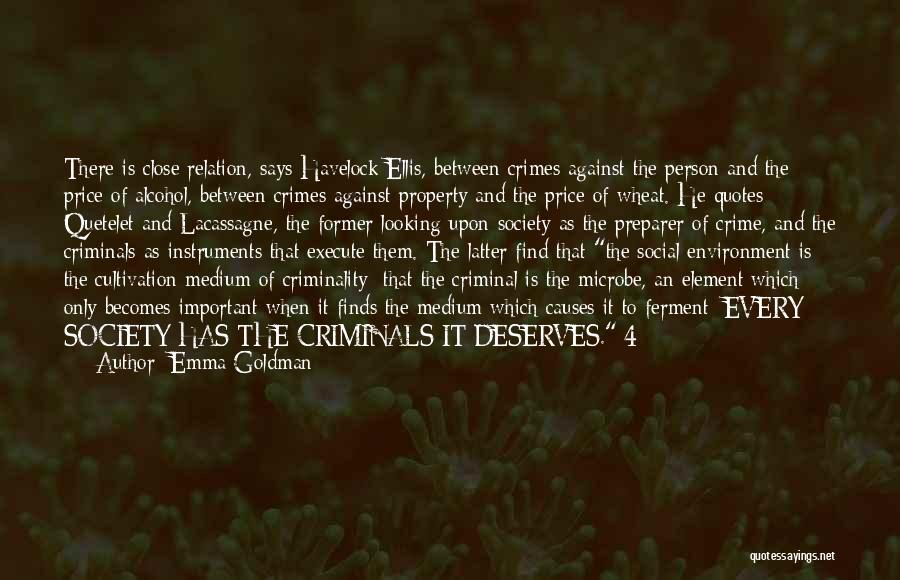 Causes Of Crime Quotes By Emma Goldman