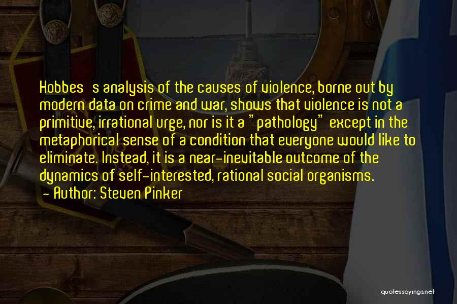 Causes Of Crime Quotes By Steven Pinker
