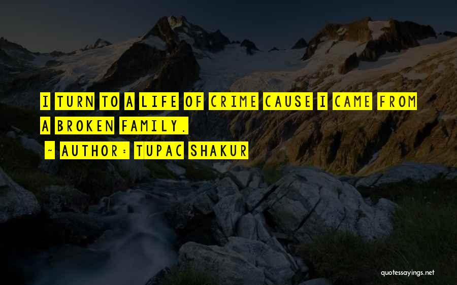Causes Of Crime Quotes By Tupac Shakur