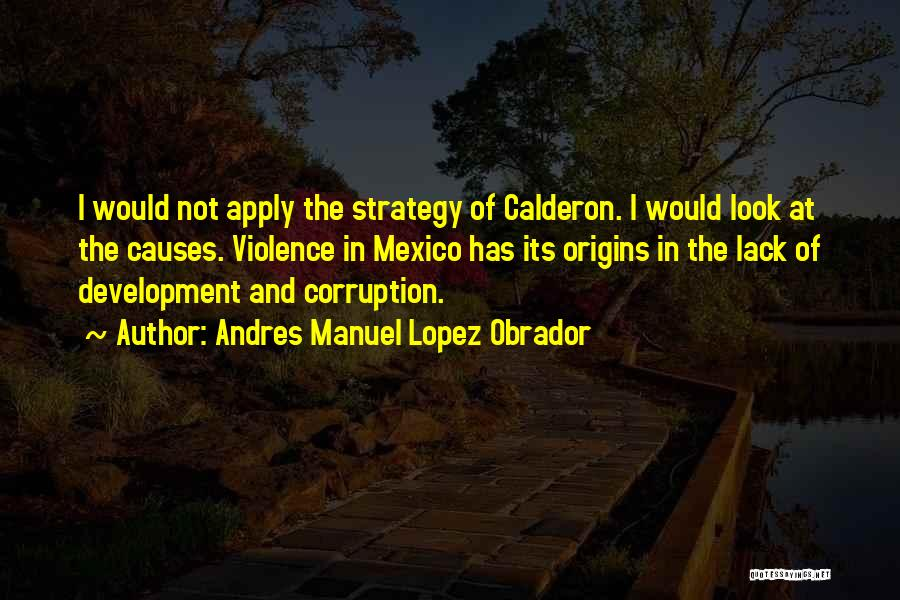 Causes Of Violence Quotes By Andres Manuel Lopez Obrador