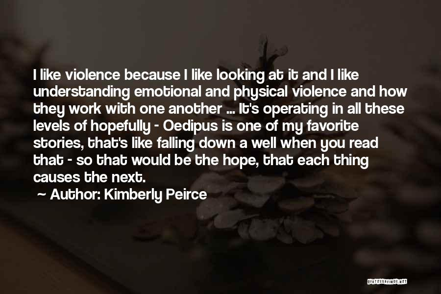 Causes Of Violence Quotes By Kimberly Peirce