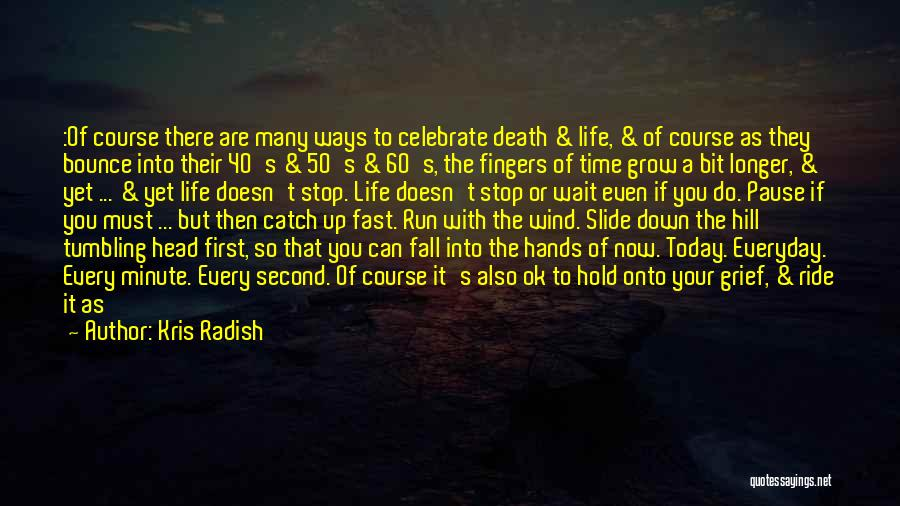 Celebrate Death Quotes By Kris Radish
