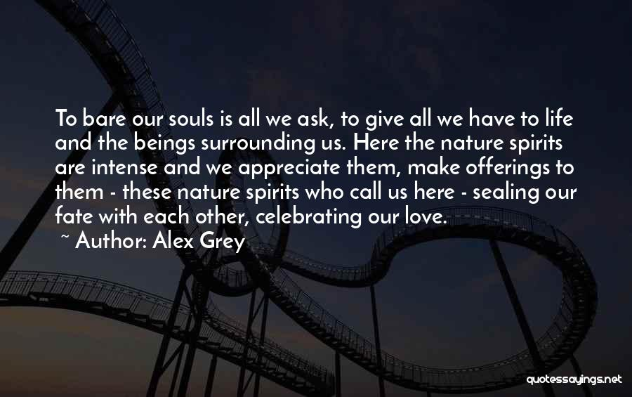 Celebrating Each Other Quotes By Alex Grey