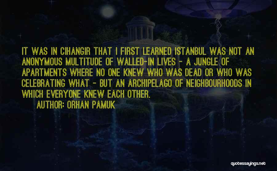 Celebrating Each Other Quotes By Orhan Pamuk