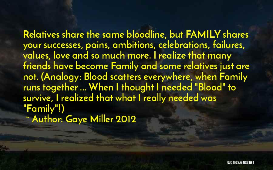Celebrations Quotes By Gaye Miller 2012