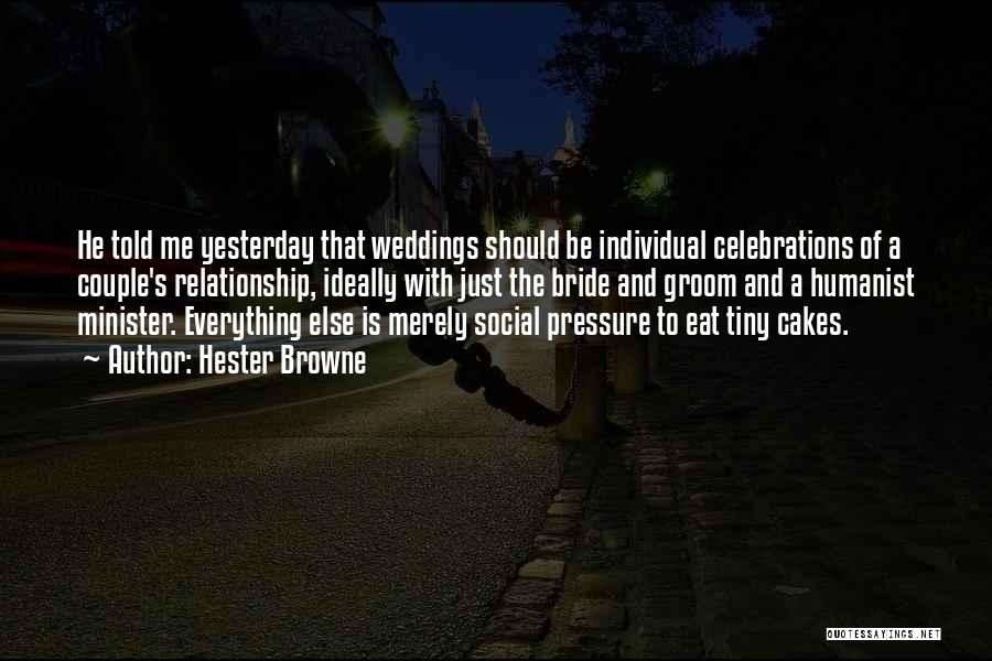 Celebrations Quotes By Hester Browne