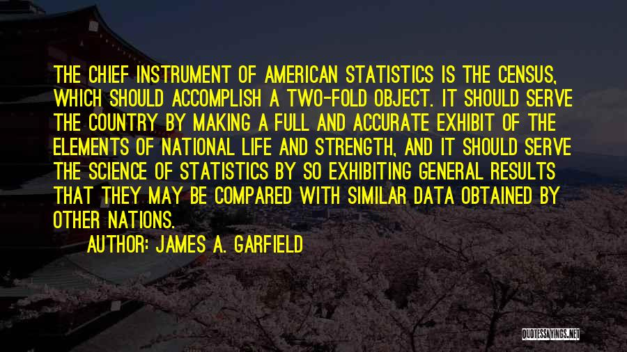 Census Data Quotes By James A. Garfield