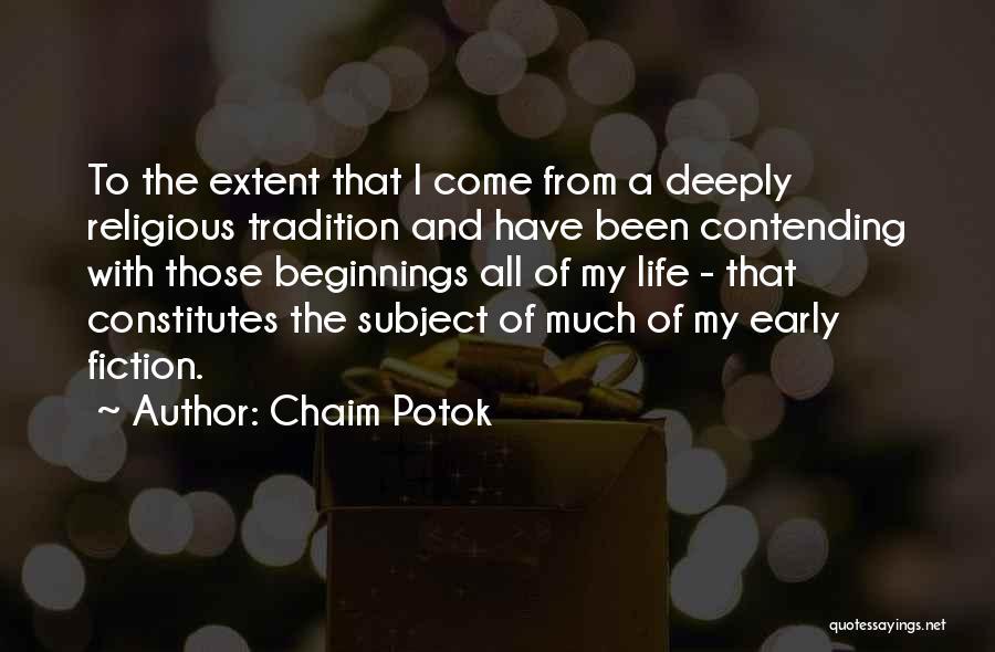 Chaim Potok Quotes 142633