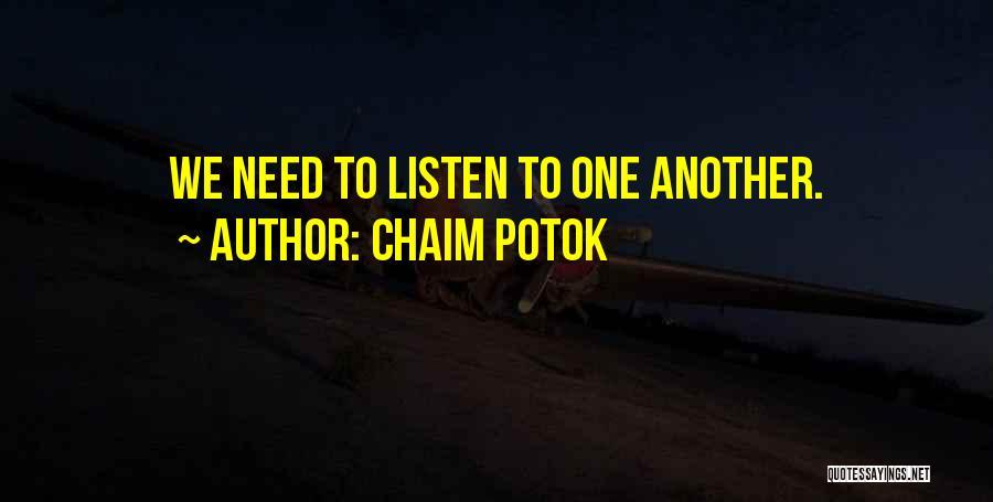 Chaim Potok Quotes 160364