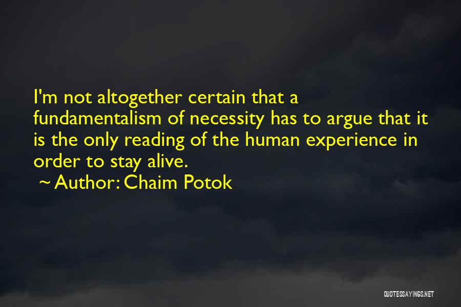 Chaim Potok Quotes 2047398