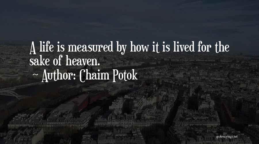 Chaim Potok Quotes 832399
