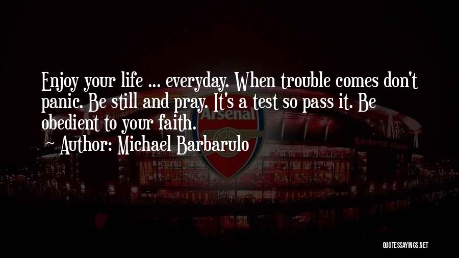 Challenges And Faith Quotes By Michael Barbarulo
