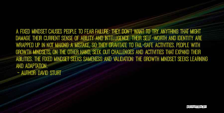 Challenges And Growth Quotes By David Sturt