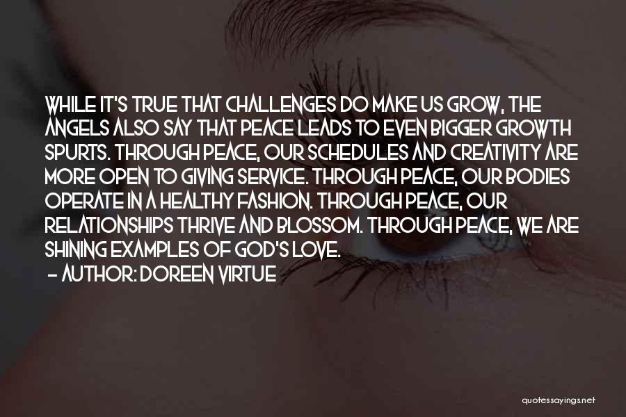 Challenges And Growth Quotes By Doreen Virtue