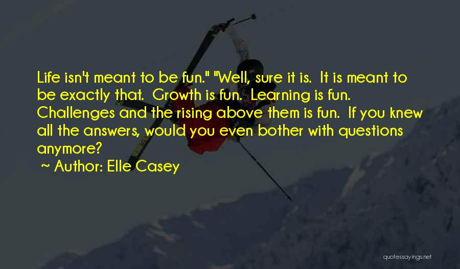 Challenges And Growth Quotes By Elle Casey