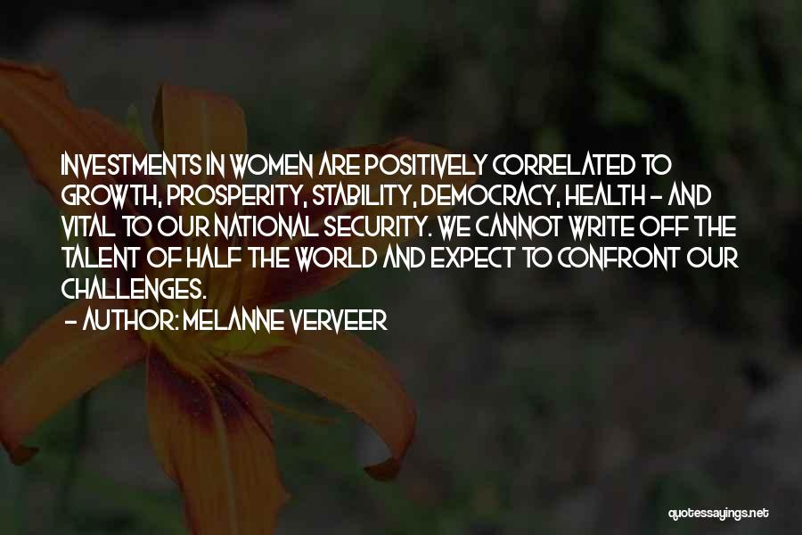 Challenges And Growth Quotes By Melanne Verveer