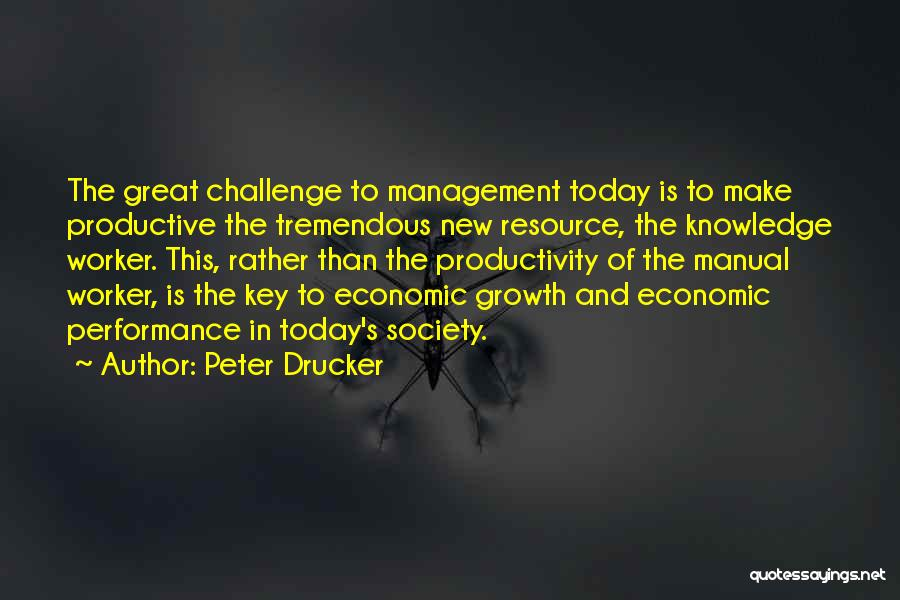 Challenges And Growth Quotes By Peter Drucker