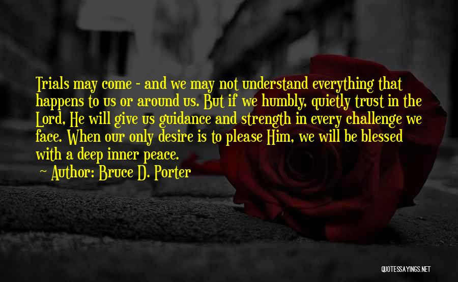 Challenges And Strength Quotes By Bruce D. Porter
