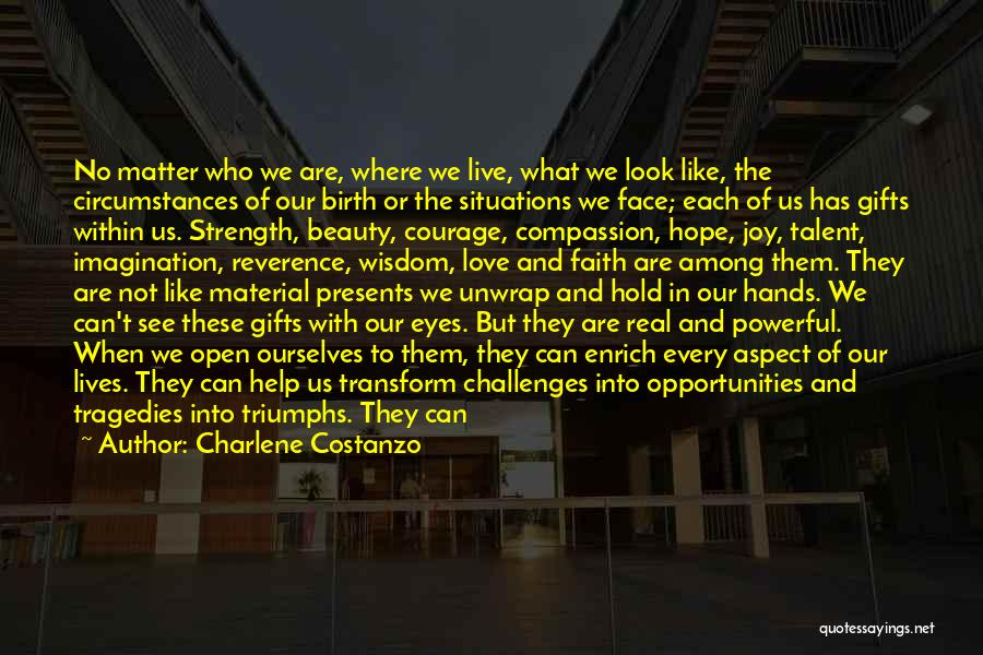 Challenges And Strength Quotes By Charlene Costanzo