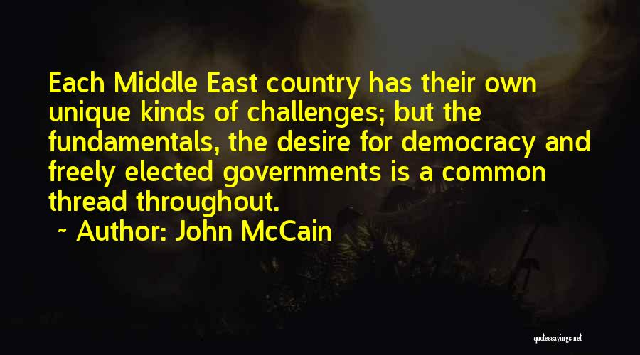 Challenges Of Democracy Quotes By John McCain